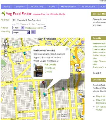 Bay Area Veg Food Finder