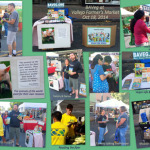 Photo collage of the day's vegan outreach at Vallejo Farmer's Market (Solano County)