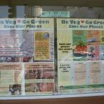 August 2009 meeting:  Close-up of Loving Hut's Be Veg Message