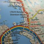 BART Map - headed to downtown Berkeley station