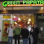 Our final destination ... dinner at Green Papaya, Berkeley