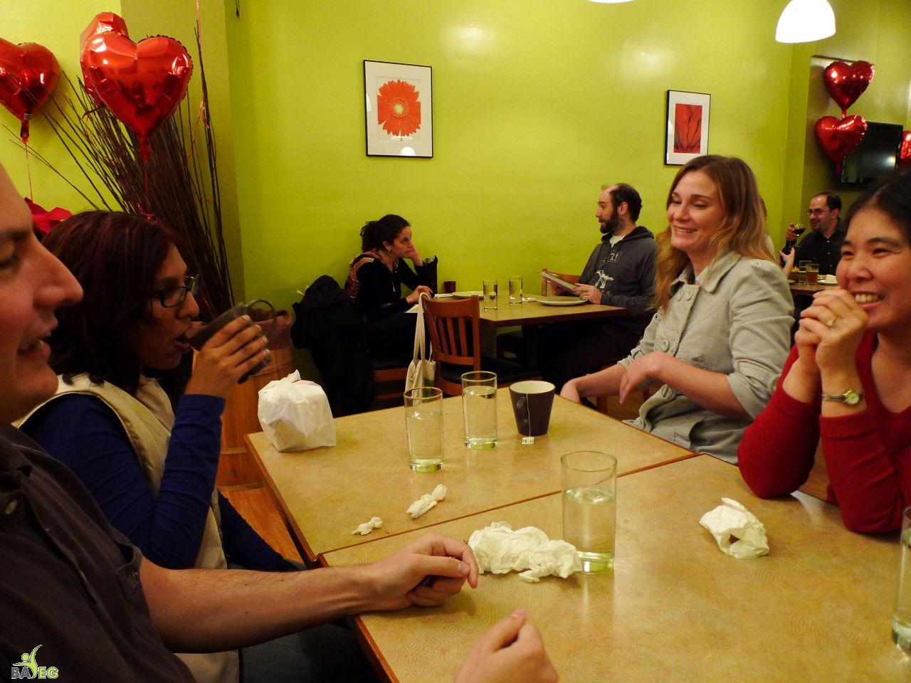 Even after all the food was gone, the conversation continued at Green Papaya