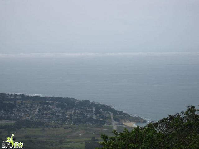 View of city of Montara from Montara Mountain