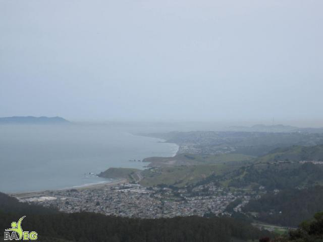 View of city of Pacifica from Montara Mountain