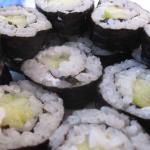 We love Katherine - she made us vegan sushi!