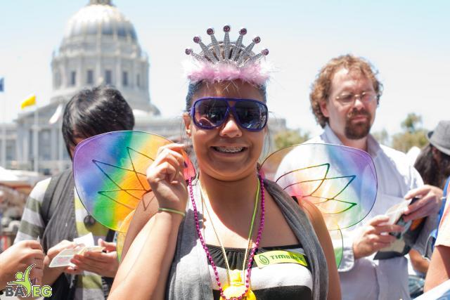 At the BAVeg Booth - SF LGBT Pride 2010