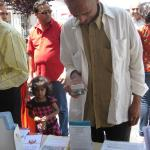 Checking out info at BAVeg booth at the JCNC 10th Anniversary celebration