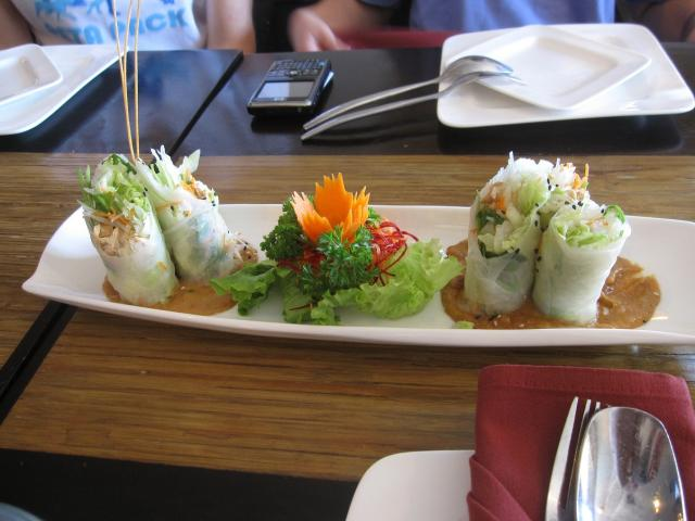 Fresh salad rolls  - July 2010  (Ken)