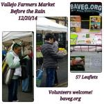 Farmer's Market Leafleting - 12/20/2014