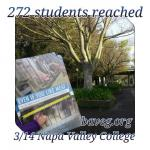 272 Students reached at Napa Valley College