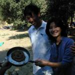 Our pancake artists, Yin Yin and her husband