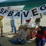 We had 2 signs telling the entire beach that we were sfBAVeg'ers.