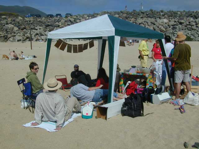 As you can see, it was a beautiful summer day with great fresh ocean breezes -- perfect to hang out at the beach with new &