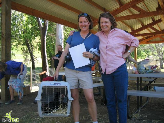 Alicia and Kim, executive director of Animal Place