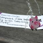 """Pig"" Glass Bead"