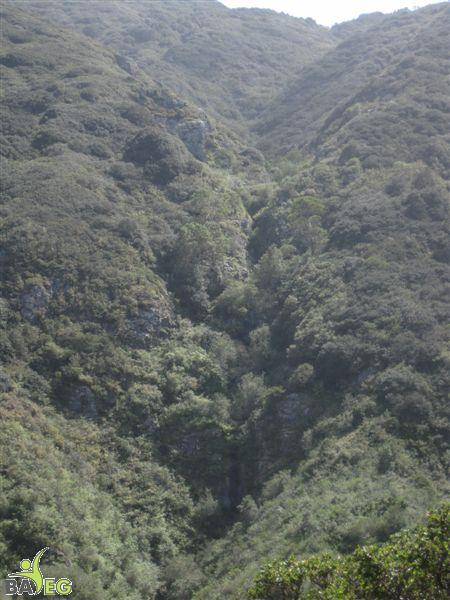 This is where the waterfall would be if there were water