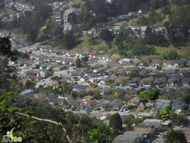 View of Pacifica from San Pedro ValleyPark