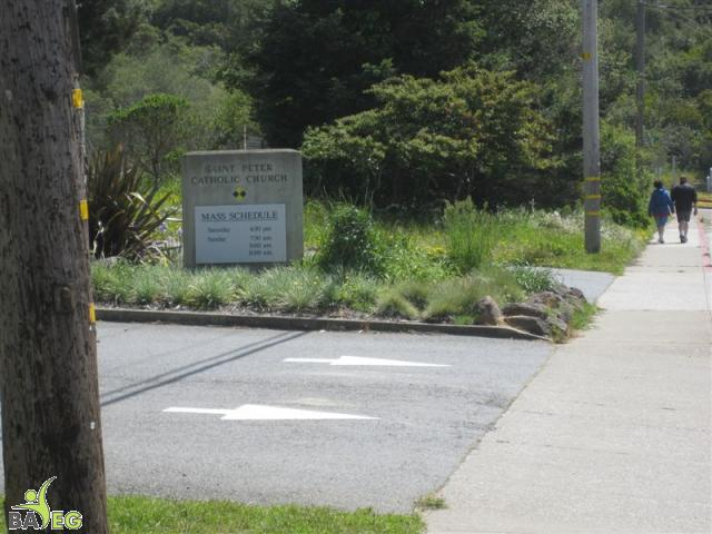 Free parking is adjacent to the church